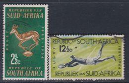 Afrique Du Sud N° 278 / 79 O 75ème Anniversaire Du Rugby National Les 2 Valeurs Oblitérations Légères Sinon TB - Afrique Du Sud (1961-...)