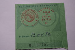 5-050 Taxe  Timbre Fiscal Contravention Auto Car Automobile 1969  Volvo Amiens - Fiscaux