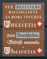 Schweiz Suisse 1942: Altstoff-Zusammendruck Se-tenant Zu Z34 D Mi SZd.5 ** MNH (Zu CHF 28.00) - Se-Tenant