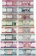 Afghanistan - Set 1+2+5+10+20+50+100+500 Afghani - Pick 64-76 UNC Random Years - Afghanistan