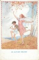 """MARGARET W TARRANT """"AN AUTUMN MELODY"""" AN OLD ARTIST SIGNED POSTCARD #91424 - Künstlerkarten"""