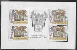 CECOSLOVACCHIA - PRAGA '88 - ESPOSIZIONE FILATELICA - FOGLIETTO NUOVO S.G. (YVERT 2770 - MICHEL 2956A) - Esposizioni Filateliche
