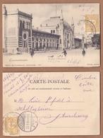 AC -  CONSTANTINOPLE LA GARE A STAMBOUL OTTOMAN - TURKEY EDITEUR MAX FRUCHTERMANN 25 MARCH 1904 POST CARD CARTE POSTALE - Turchia
