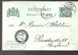 1901 N. Wafelbakker Baarn > Manchester (ES-13) - Storia Postale