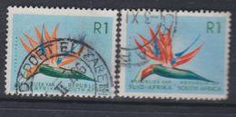 Afrique Du Sud N° 290 / 91  O  1 R. Bleu Clair, Orange, Bleu Et Vert Type I Et II,  Les 2 Vals Oblité. Moyennes Sinon TB - Afrique Du Sud (1961-...)