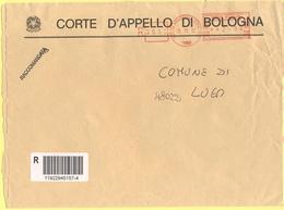 ITALIA - ITALY - ITALIE - 2002 - 2,94 EMA, Red Cancel - Corte D' Appello Di Bologna - Viaggiata Da Bologna Per Lugo - Affrancature Meccaniche Rosse (EMA)