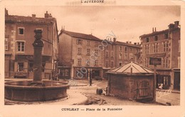 Cartolina Cunlhat Place De La Fontaine - Unclassified