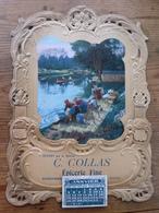 Porte-lettres Publicitaire Cartonné 26 X 35 Gaufré Epicerie C. COLAS (45) PITHIVIERS Et Calendrier 1913 Lavandière - Other Collections