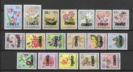 CONGO BELGE - FLORE - SERIE YVERT N° 382/399 ** MNH - COTE = 72.5 EUR. - - République Du Congo (1960-64)