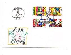 SUISSE FDC 1992 LE MONDE DU CIRQUE - FDC