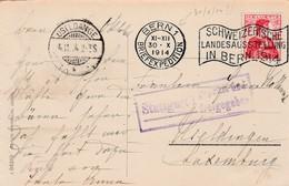 Carte Suisse 30.X.1914 (OFFENSIVE !!!) Bern Vers Useldange - Censure Stuttgart. RRR - Occupation