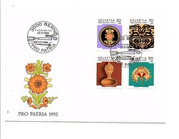 SUISSE FDC 1992 PRO PATRIA - ART POPULAIRE - FDC