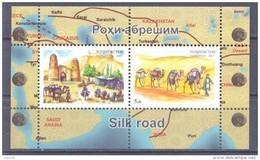 2015. Tajikistan, Silk Road, S/s Perforated,,  Mint/** - Tadschikistan