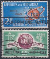 Afrique Du Sud N° 294 / 95  O  Centenaire De L' U. I. T.  Les 2 Vals Oblitérations Moyennes Sinon TB - Afrique Du Sud (1961-...)