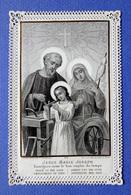 IMAGE  RELIGIEUSE. PIEUSE....CANIVET.........ED.TURGIS....JÉSUS. MARIE. JOSEPH...... ATELIER DE JOSEPH /L'ENFANCE - Devotion Images