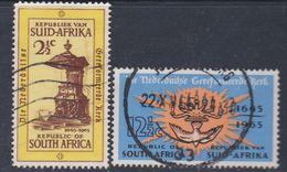 Afrique Du Sud N° 296 / 97  O  Tricentenaire De L' Eglise Réformée  Les 2 Vals Oblitérations Moyennes Sinon TB - Afrique Du Sud (1961-...)