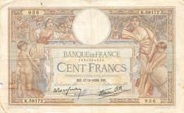 100  FRANCS  LUC  OLIVIER  MERSON - 1871-1952 Anciens Francs Circulés Au XXème
