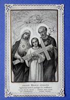 IMAGE  RELIGIEUSE. PIEUSE....CANIVET.........ED.TURGIS....JÉSUS. MARIE. JOSEPH...... JÉSUS PORTE LA CROIX - Devotion Images