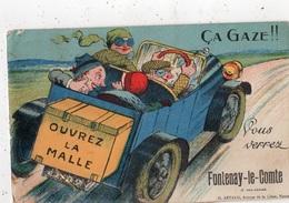 CA GAZE !! OUVREZ LA MALLE ET VOUS VERREZ FONTENAY-LE-COMTE (CARTE A SYSTEME) - Fontenay Le Comte