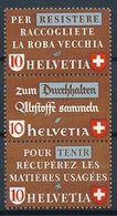 Schweiz Suisse 1942: Altstoff-Zusammendruck Se-tenant : Zu Z36c Mi SZd.11** Postfrisch MNH (Zu CHF 26.00) - Se-Tenant