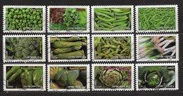 FRANCE - 2012 - YT - Adhésifs - N° 739 / 750 - Oblitérés - Série Complète - Flore - Légumes - France