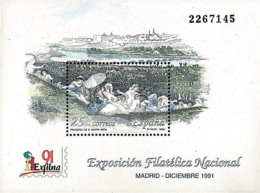 Ref. 86160 * NEW *  - SPAIN . 1991. NATIONAL PHILATELIC EXHIBITION. EXPOSICION FILATELICA NACIONAL - 1931-Hoy: 2ª República - ... Juan Carlos I