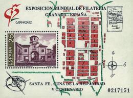 Ref. 85861 * NEW *  - SPAIN . 1991. GRANADA 92. INTERNATIONAL PHILATELIC EXHIBITION. GRANADA 92. EXPOSICION FILATELICA I - 1931-Hoy: 2ª República - ... Juan Carlos I