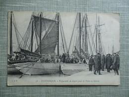CPA 59 DUNKERQUE PREPARATIFS DEPART PECHE EN ISLANDE CACHET - Dunkerque