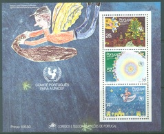 PORTUGAL - 1987 - MNH/*** LUXE - CHRISTMAS UNICEF -  Mi BLOCK 56 Yv BLOC 57  - Lot 19394 - Blocs-feuillets