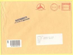 ITALIA - ITALY - ITALIE - 2002 - 00,77 EMA, Red Cancel - A.u.s.i. - Viaggiata Da Lugo Per Lugo - Affrancature Meccaniche Rosse (EMA)