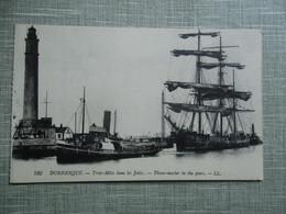 CPA 59 DUNKERQUE TROIS MATS JETEES REMORQUEUR - Dunkerque