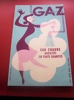 GAZ LAMPISTERIE  EAU CHAUDE - BUVARD Collection Illustré Publicitaire Publicité Electricité & Gaz - Electricity & Gas