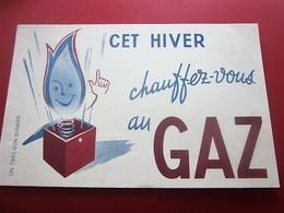 GAZ LAMPISTERIE  EAU CHAUDE CHAUFFAGE - BUVARD Collection Illustré Publicitaire Publicité Electricité & Gaz - Electricidad & Gas