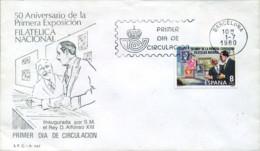 Ref. 281954 * NEW *  - SPAIN . 1980. 50th ANNIVERSARY OF THE FIRST NATIONAL PHILATELIC EXHIBITION. 50 ANIVERSARIO DE LA - 1931-Hoy: 2ª República - ... Juan Carlos I
