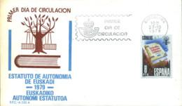 Ref. 281689 * NEW *  - SPAIN . 1979. PROCLAMATION OF AUTONOMY STATUTE OF BASQUE COUNTRY. PROCLAMACION DEL ESTATUTO DE AU - 1931-Hoy: 2ª República - ... Juan Carlos I