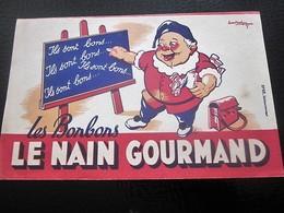 BONBONS LE NAIN GOURMAND - BUVARD Collection Illustré LOURAIN Publicitaire Publicité Alimentaire Sucreries & Gâteaux - Cake & Candy