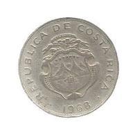 MONNAIE , COSTA RICA , 1968 ,50 Centimos , B.C.C.R.  America Central, 2 Scans - Costa Rica