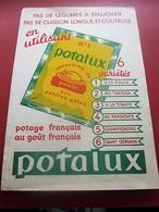 POTAGE POTALUX POULE AUX PATES  - BUVARD Collection Illustré LOURAIN Publicitaire Publicité Alimentaire Potages & Sauces - Sopas & Salsas