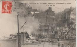 Nord :  LILLE : Incendie Des  Docks Et  Magasins  Généraux De Lille - Lille