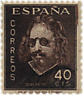 Ref. 85573 * NEW *  - SPAIN . 1945. 3rd CENTENARY OF THE DEATH OF QUEVEDO. 3 CENTENARIO DE LA MUERTE DE QUEVEDO - 1931-50 Unused Stamps