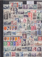 SUPERBE COLLECTION DE 353 TIMBRES NEUFS.1951 A FIN 1961.TOUS GOMME D ORIGINE.CERTAINS TRACE CHARNIERE.T.T.B.ETAT - France