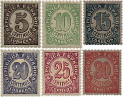 Ref. 85540 * NEW *  - SPAIN . 1938. VALUES. CIFRAS - 1931-Hoy: 2ª República - ... Juan Carlos I