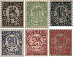 Ref. 209323 * HINGED *  - SPAIN . 1938. VALUES. CIFRAS - 1931-Hoy: 2ª República - ... Juan Carlos I