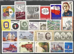 PL 1981-90 LOT OF STAMPS POLAND, MNH - 1944-.... Republik
