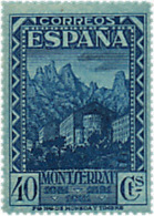 Ref. 209530 * HINGED *  - SPAIN . 1931. 9th CENTENARY OF MONTSERRAT MONASTRY. 9 CENTENARIO DEL MONASTERIO DE MONTSERRAT - Nuevos