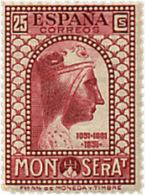 Ref. 209524 * HINGED *  - SPAIN . 1931. 9th CENTENARY OF MONTSERRAT MONASTRY. 9 CENTENARIO DEL MONASTERIO DE MONTSERRAT - Nuevos