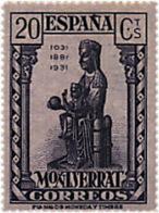 Ref. 209521 * HINGED *  - SPAIN . 1931. 9th CENTENARY OF MONTSERRAT MONASTRY. 9 CENTENARIO DEL MONASTERIO DE MONTSERRAT - Nuevos
