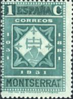 Ref. 209507 * HINGED *  - SPAIN . 1931. 9th CENTENARY OF MONTSERRAT MONASTRY. 9 CENTENARIO DEL MONASTERIO DE MONTSERRAT - Nuevos