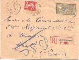 10c +45c Merson LR Obl Luc En Diois - Semeuse 138 - Marcophilie (Lettres)