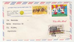 US, Letter Cover Travelled 1974 Westfield (IND) Pmk B190401 - Estados Unidos
